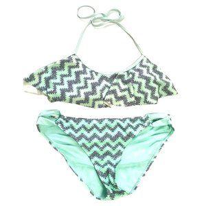 Hot Water Turquoise Tribal Print Bikini